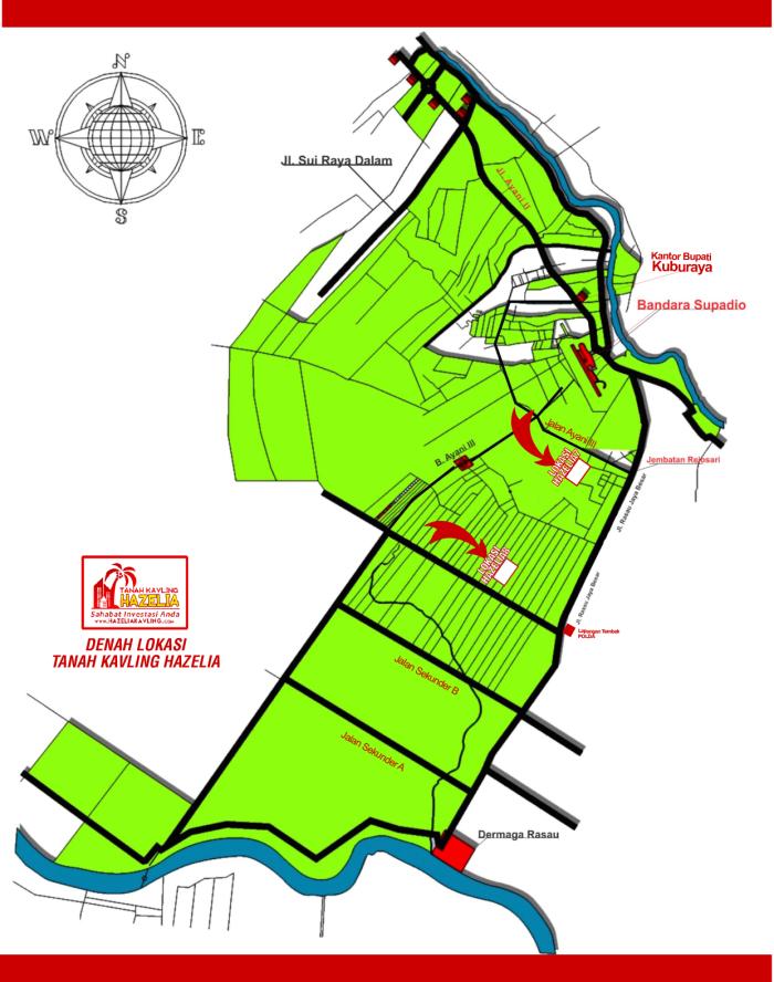 Denah Lokasi Jual Tanah Kavling Pontianak - Jual Tanah ...